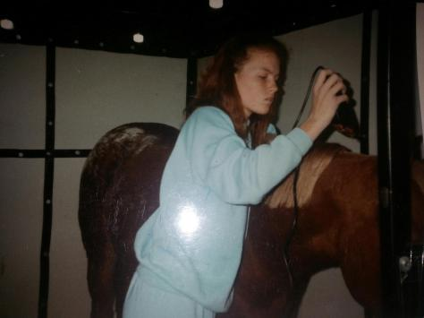 With my filly Cody at the American Royal. I was 13.